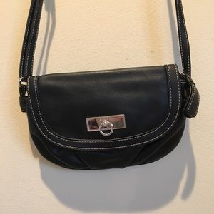 Crossbody black purse